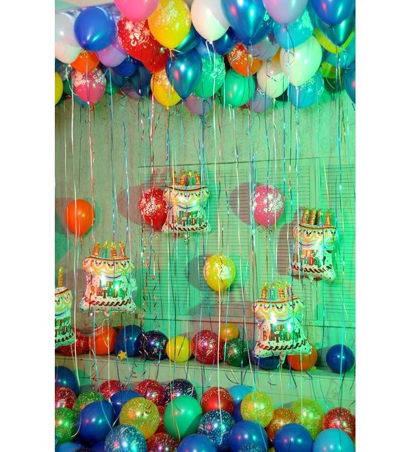 Оформление шарами С днем рождения! – фото № 2