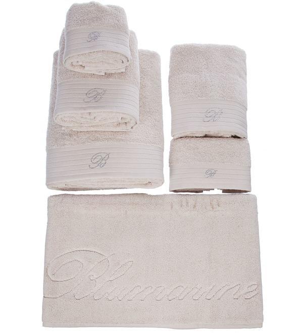 Подарочный набор из 5-ти полотенец+коврик для ванной Blumarine – фото № 3