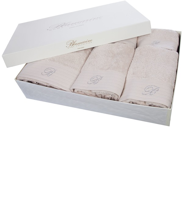 Подарочный набор из 5-ти полотенец+коврик для ванной Blumarine – фото № 1