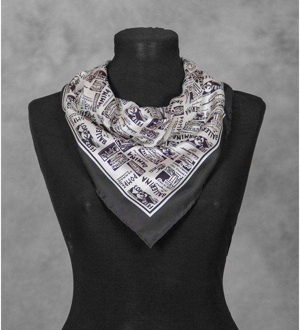 Silk shawl Salvatore Ferragamo (Italy, 50x50 cm) – photo #3