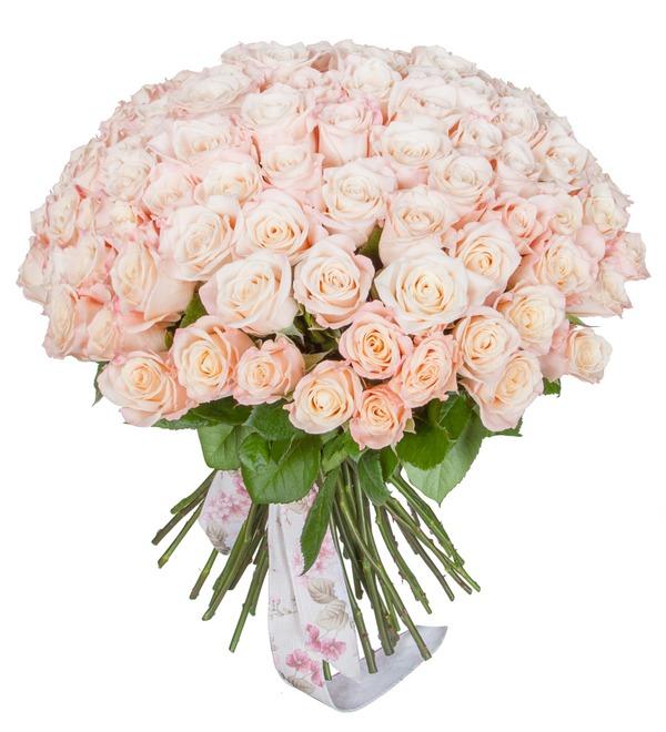 Букет-соло роз Medeo (25,35,51,75 или 101) – фото № 5