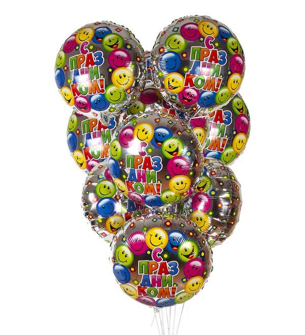 Букет шаров С праздником! (7 или 15 шаров) – фото № 1