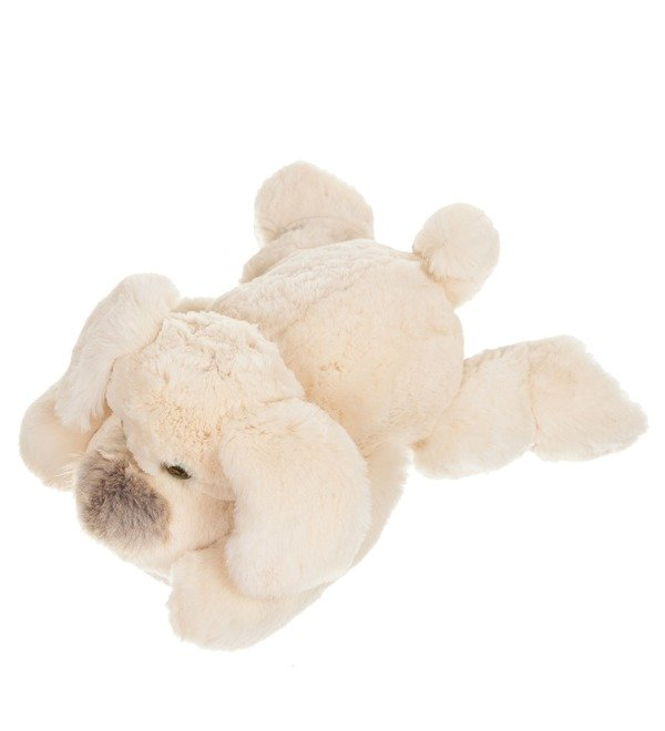 Toy from natural rabbit fur Dog (25 cm) – photo #3
