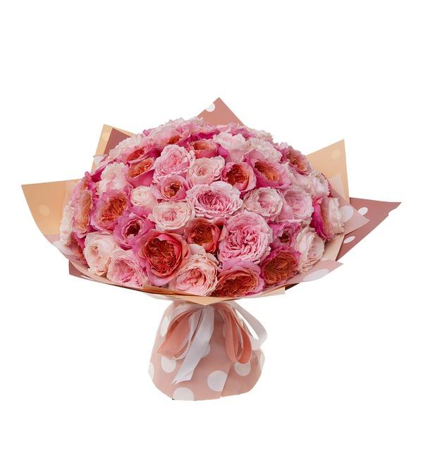 Букет-дуэт японских роз Концерт под Луной (15,25,35,51,75 или 101) – фото № 5