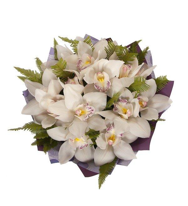 Букет-соло Белые орхидеи (15,25,35,51,75,101 или 151) – фото № 4