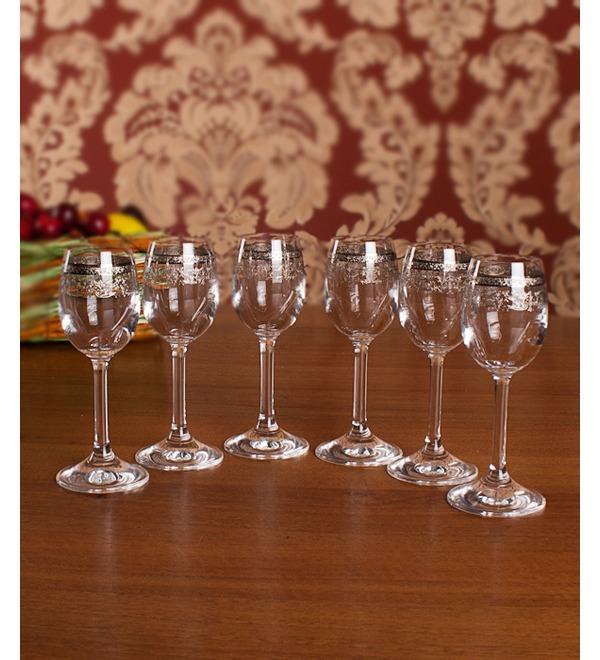 Набор из 6 бокалов для ликёра Серебряное кружево – фото № 3