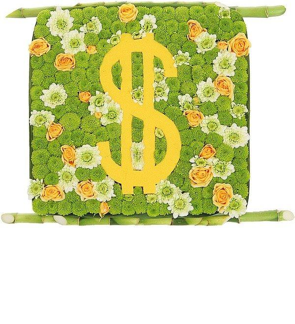 Цветочная композиция Счастливый доллар – фото № 2