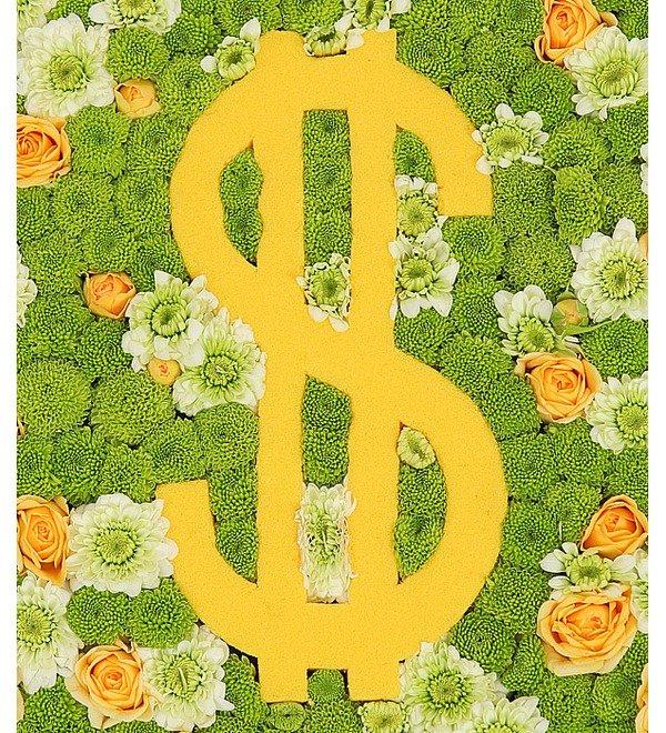 Цветочная композиция Счастливый доллар – фото № 5