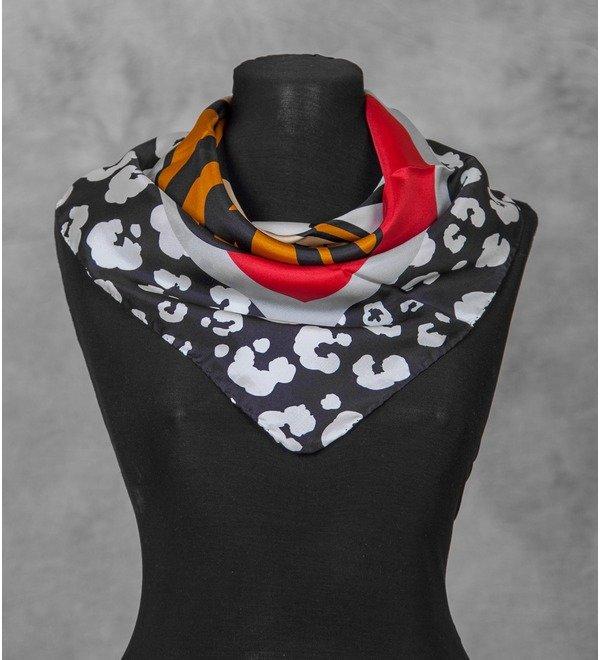 Шелковый платок MOSCHINO (Италия, 70х70 см) – фото № 3