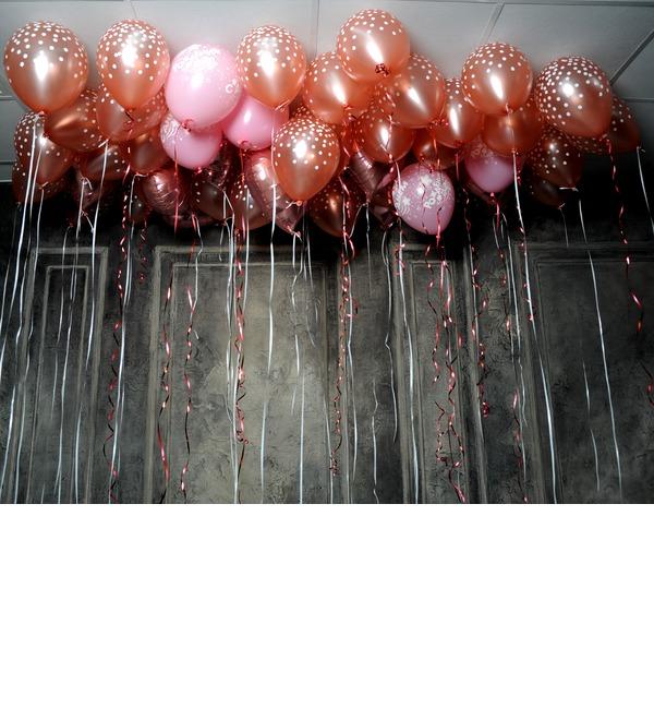 Оформление потолка воздушными шарами – фото № 3