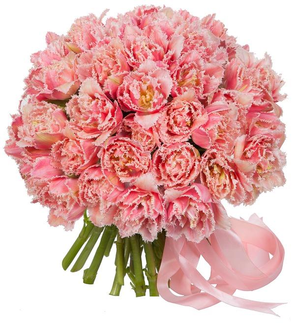 Букет-соло эксклюзивных тюльпанов Queensland (15,25,35,51,75 или 101) – фото № 1