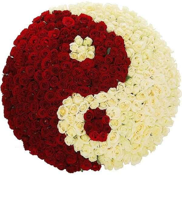 Композиция Ты и Я (333 розы) – фото № 1