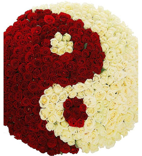 Композиция Ты и Я (333 розы) – фото № 3