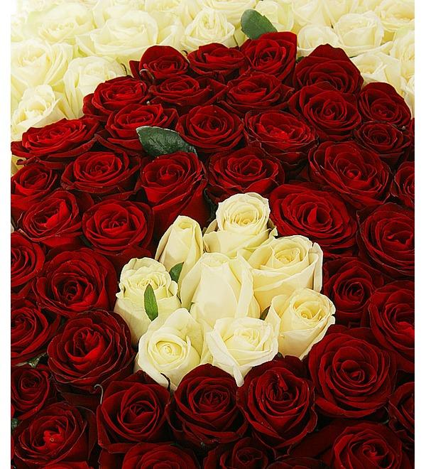 Композиция Ты и Я (333 розы) – фото № 2