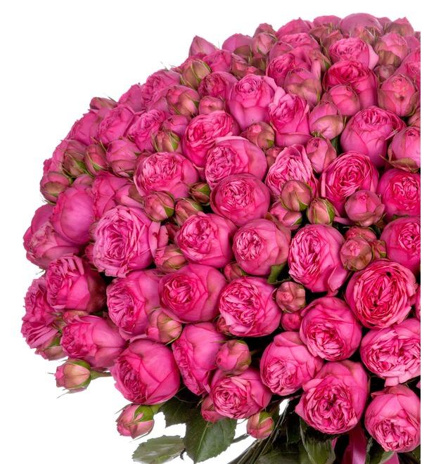 Букет из 151 пионовидной розы Pink Piano SPBWOW39 SAN – фото № 4