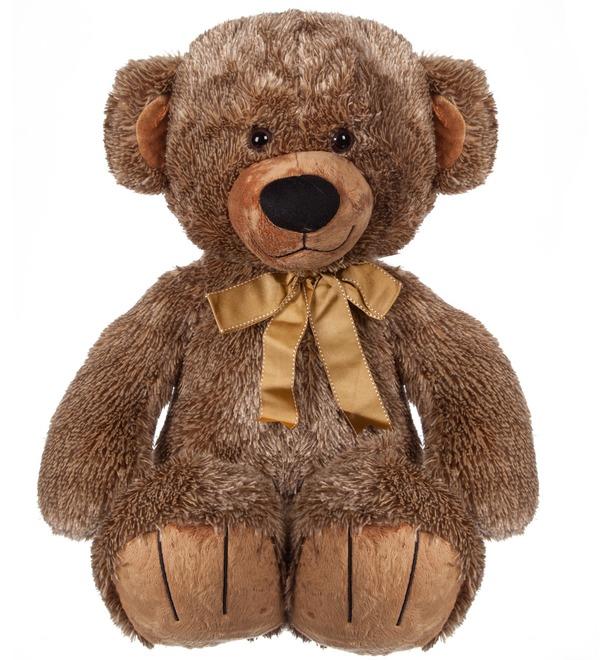 Мягкая игрушка Мишка Потапыч с бантом (70 см) – фото № 1