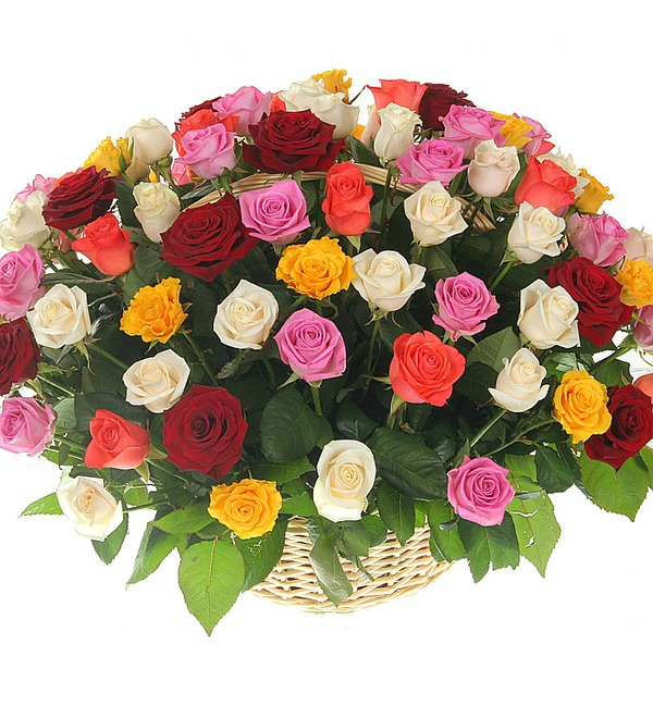 Композиция Праздничный салют (51, 101 или 201 роза) – фото № 4
