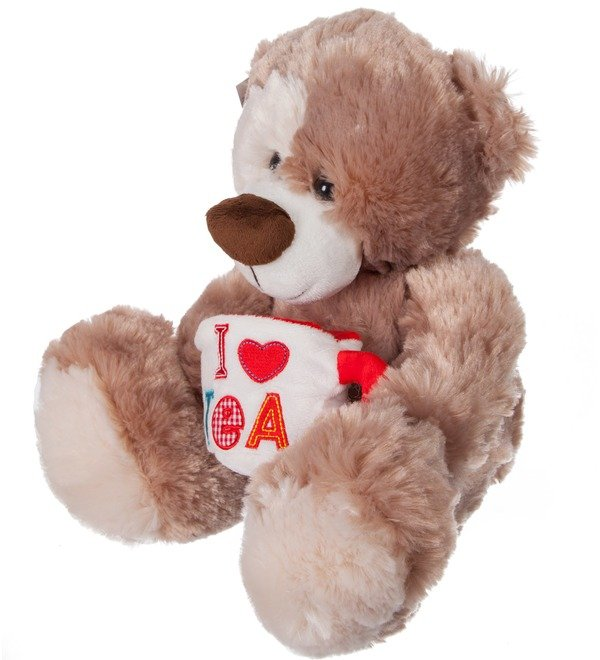 Soft toy Bear Zinovy with a mug (35 cm) – photo #3
