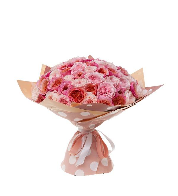 Букет-дуэт японских роз Концерт под Луной (15,25,35,51,75 или 101) – фото № 4