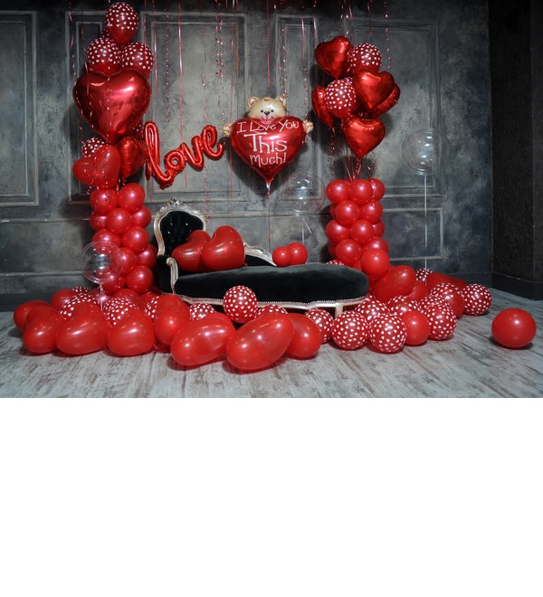 Оформление шарами в стиле Любовь! – фото № 2