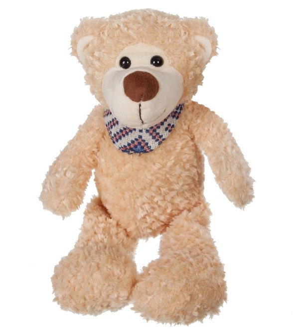 Soft toy Bear Theodore in a scarf (38 cm) – photo #1