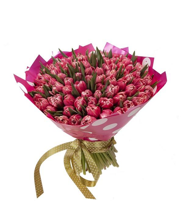 Букет-соло Тюльпаны Columbus (15,25,35,51,75 или 101) – фото № 5
