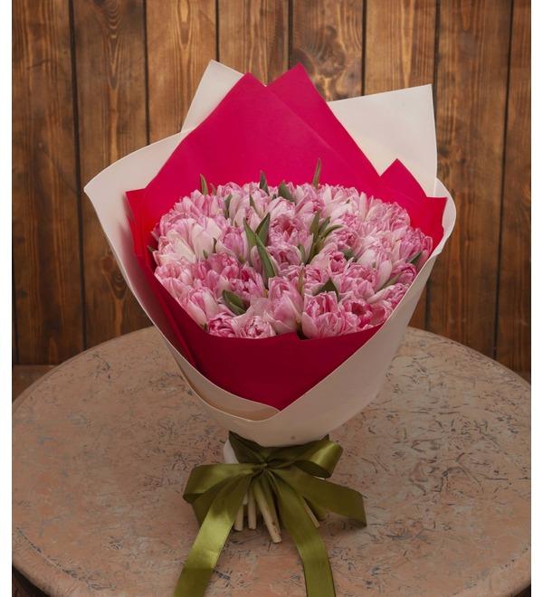 Букет-соло тюльпанов Foxtrot (15,25,35,51,75,101 или 151) – фото № 1