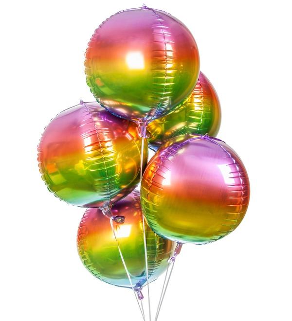 Букет шаров Радуга (5 или 9 шаров) – фото № 1