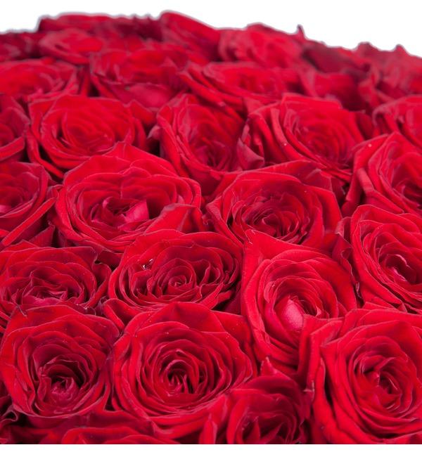 Букет из 201 красной розы Ты - мой мир! – фото № 4