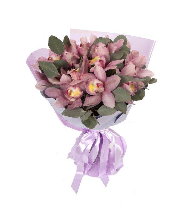 Букет-соло Розовые орхидеи (15,25,35,51,75 или 101) – фото № 5