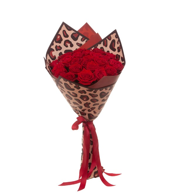 Букет-соло роз Гран При (15,25,35,51,75,101 или 151) – фото № 5