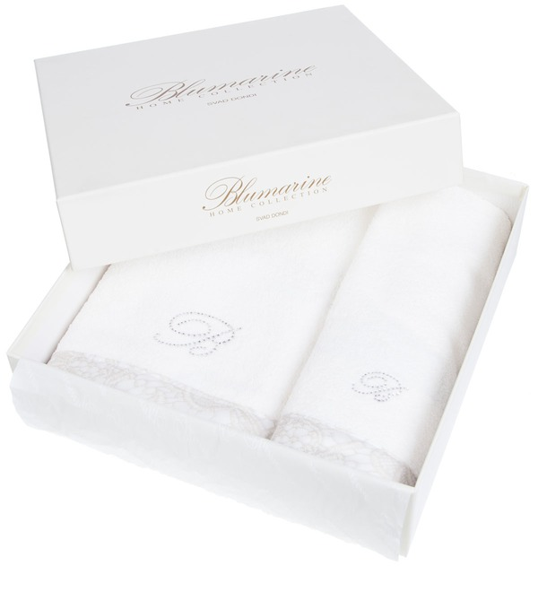Set of 2 towels Macrame Blumarine – photo #3