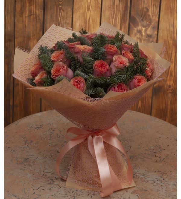 Букет-соло роз Лесная сказка (15,25,35,51,75 или 101) – фото № 1