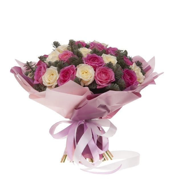 Букет-дуэт роз Стихия чувств (15,25,35,51,75 или 101) – фото № 3