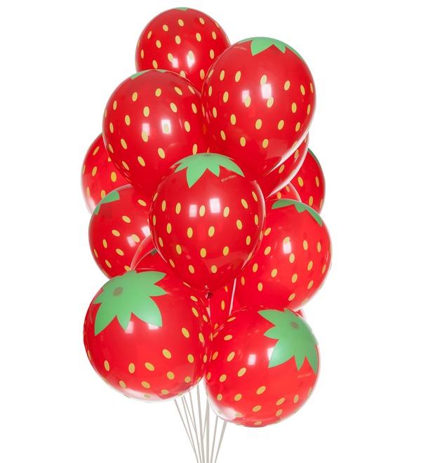 Букет шаров Клубника (15 или 31 шар) – фото № 1