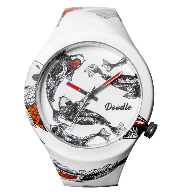 Часы Doodle Рыбы – фото № 1