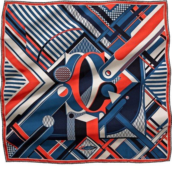 Шелковый платок Cartier Строгая классика (Франция, 90х90 см) – фото № 1