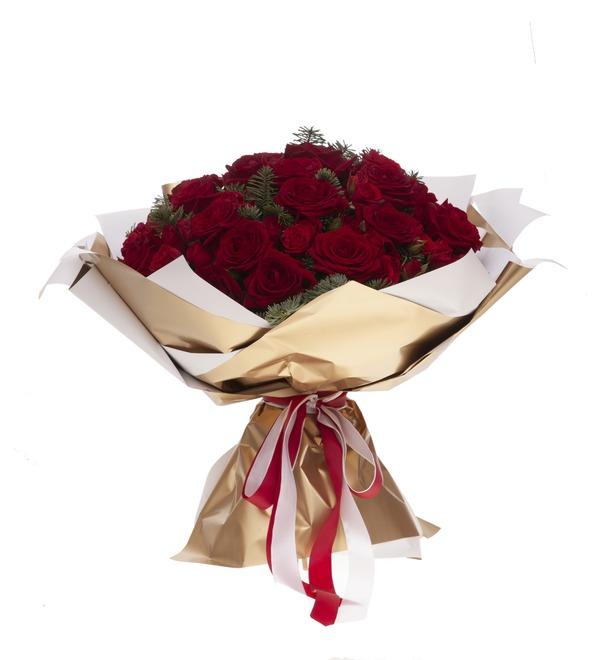 Букет-дуэт роз Мелодия сердца (15,25,35,51,75 или 101) – фото № 4