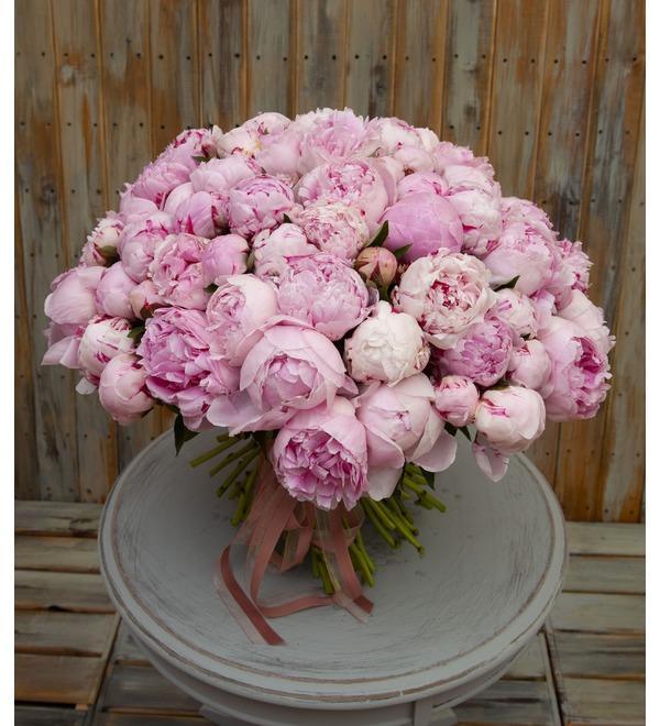 Букет-соло пионов Sarah Bernhardt (15,25,35,51,75 или 101) – фото № 1