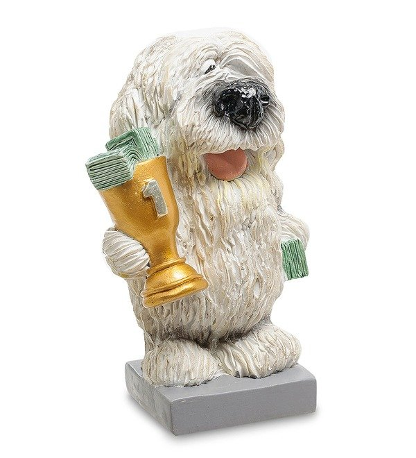 Статуэтка Собака Комондор Желаю блестящих побед (W.Stratford) – фото № 3