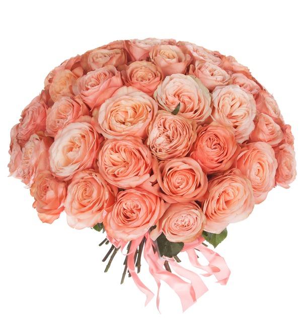 Дешевый букет из пионовидных роз фото, оптовые