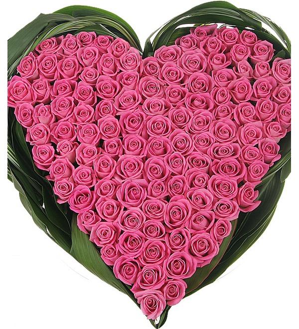 Композиция из роз Яркая любовь – фото № 1