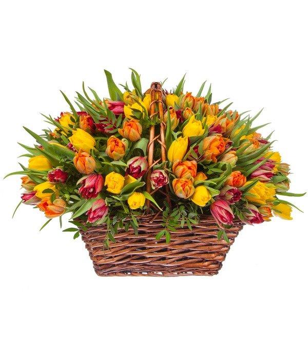 Композиция из пионовидных тюльпанов (151, 301 или 501шт.) – фото № 4