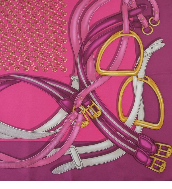 Шелковый платок GUCCI Милые радости (Италия, 90х90 см) – фото № 3