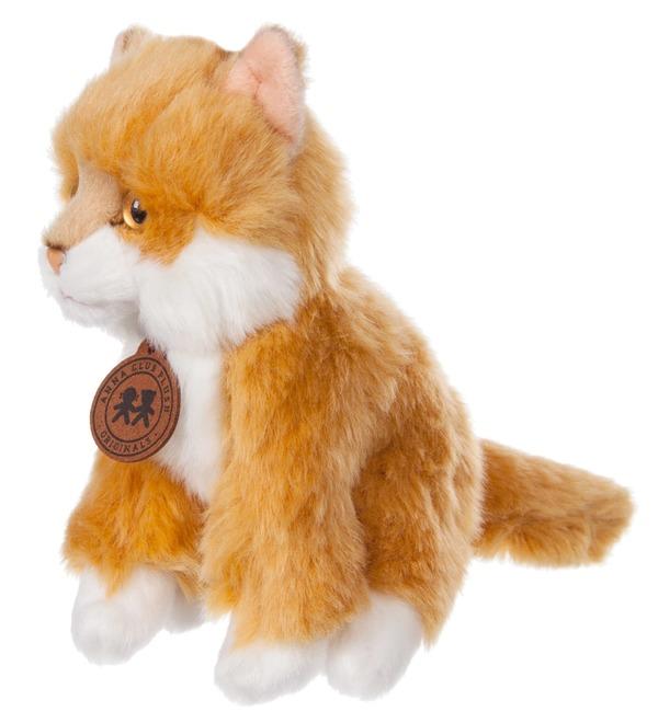 Мягкая игрушка Сибирский рыжий котёнок (15 см) – фото № 3
