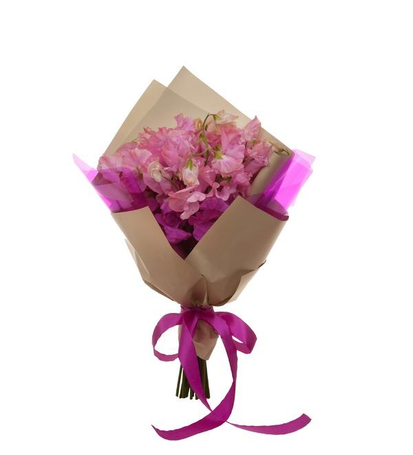 Букет-соло розовых латирусов (15,25,35 или 51) – фото № 4