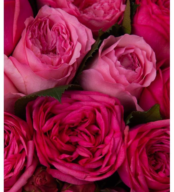 Букет-дуэт пионовидных роз Высокая нота (15,25,35,51,75 или 101) – фото № 3