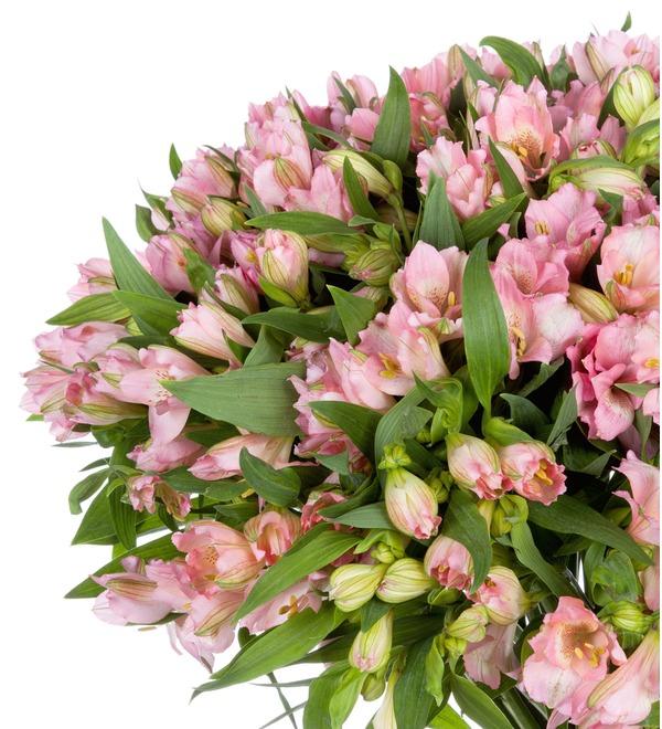 Букет-соло Розовые альстромерии (15,25,35,51,75 или 101) – фото № 3