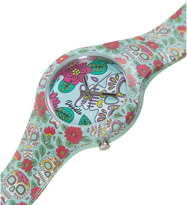 Часы Doodle Цветы и черепа – фото № 2