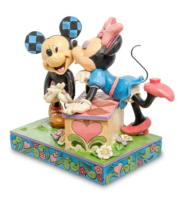 Figurine Mickey and Minnie: The booth of Kisses (Disney) – photo #2